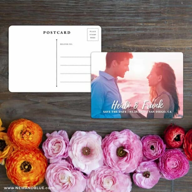 Bellevue NB Save The Date Postcard With Back