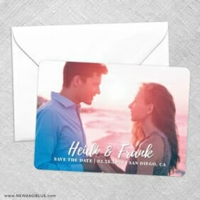 Bellevue NB Save The Date Party Card