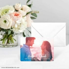 Bellevue NB Save The Date Card With Envelope