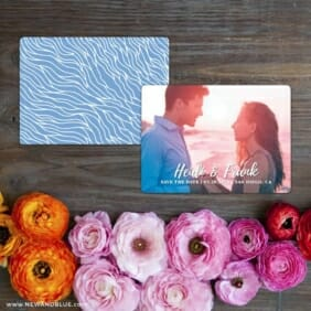 Bellevue NB Save The Date Card With Back Printing