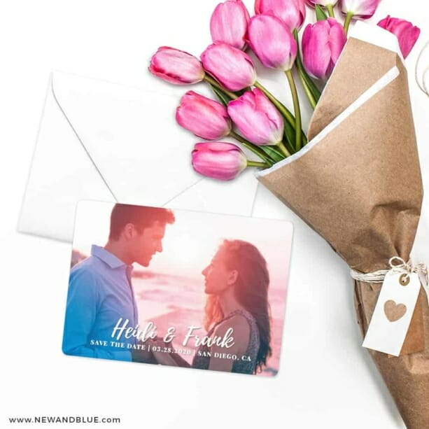 Bellevue NB Save The Date Cards With Envelope