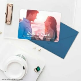 Bellevue NB Save The Date Cards And Optional Color Envelopes