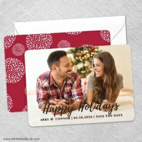 Bellevue Holiday NB Save The Date Wedding Card