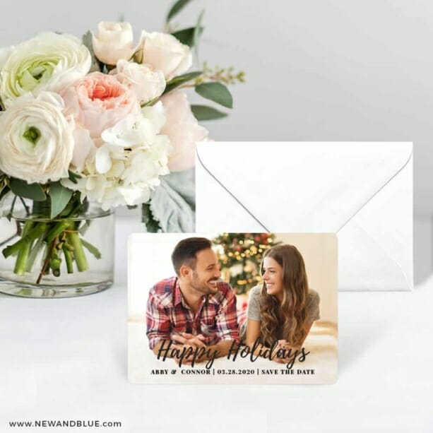 Bellevue Holiday NB Save The Date Card With Envelope