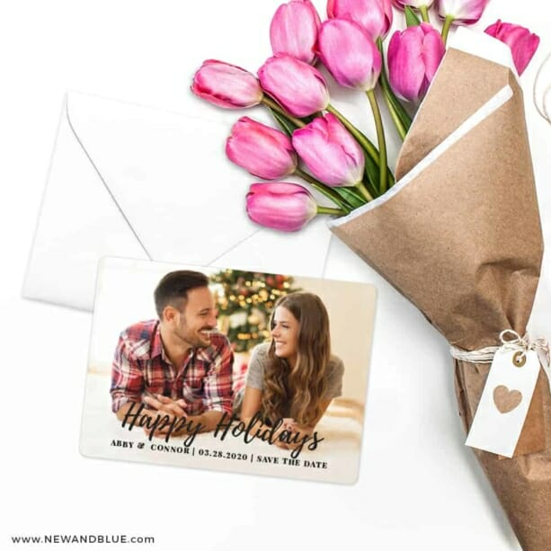 Bellevue Holiday NB Save The Date Cards With Envelope