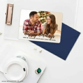 Bellevue Holiday NB Save The Date Cards And Optional Color Envelopes