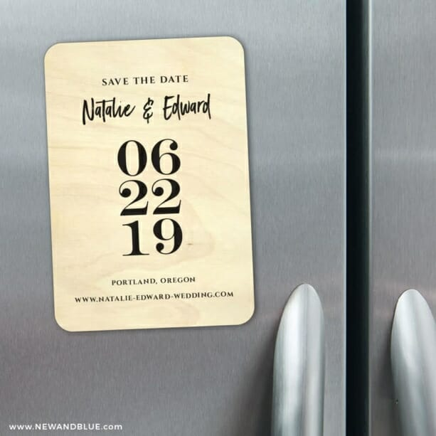 Countdown Wooden Save The Date Magnets