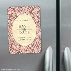 Whirlwind 2 9 Wood Fridge Save The Date Magnets