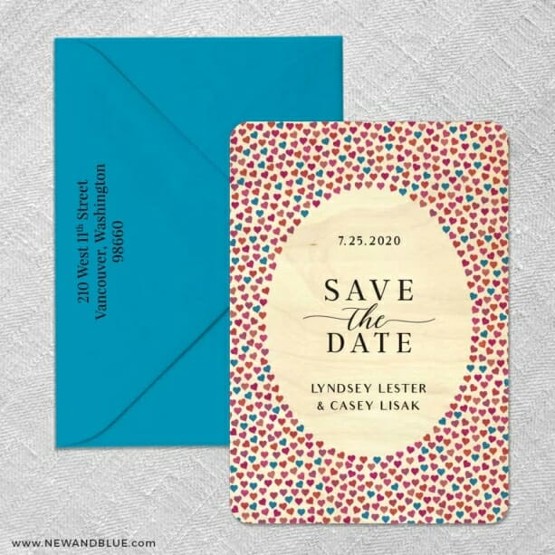 Whirlwind 2 4 Wood Save The Date With Optional Color Envelope