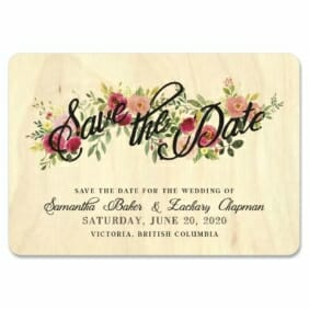 Bouquet De Fleurs 5 1 Wooden Save The Date Magnets