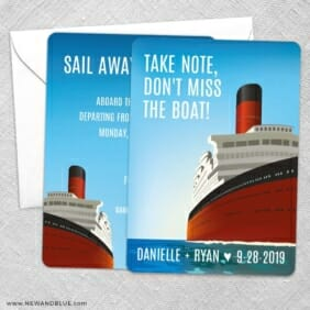 Cruisin NB Save The Date Wedding Card