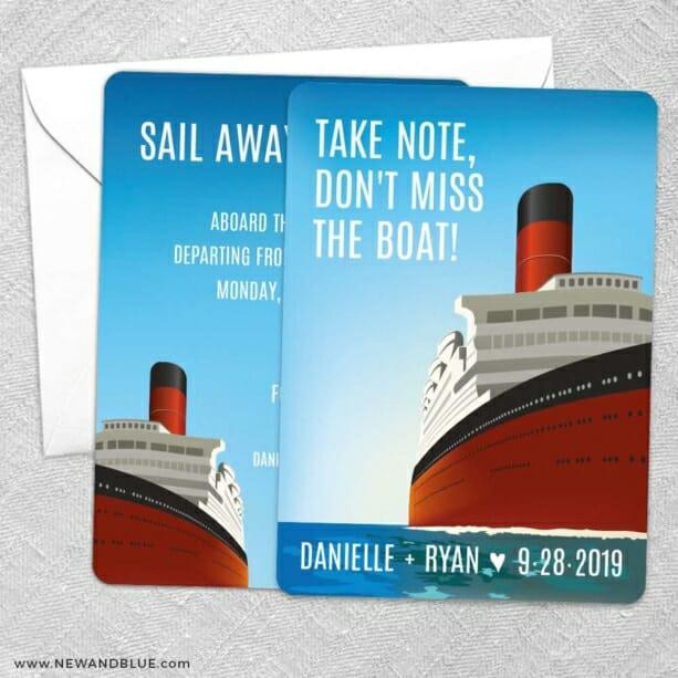 Cruisin NB Save The Date Wedding Card