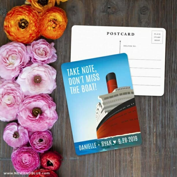 Cruisin NB Save The Date Postcard With Back