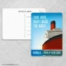 Cruisin NB Save The Date Postcards Front And Back