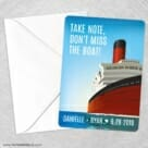 Cruisin NB Save The Date Party Card