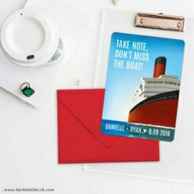 Cruisin NB Save The Date Cards And Optional Color Envelopes
