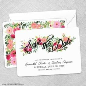 Bouquet De Fleurs Nb2 Save The Date Wedding Card