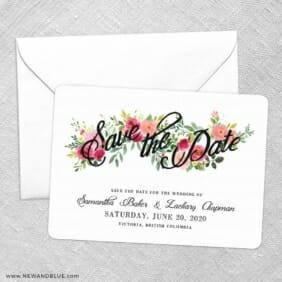 Bouquet De Fleurs Nb2 Save The Date Party Card
