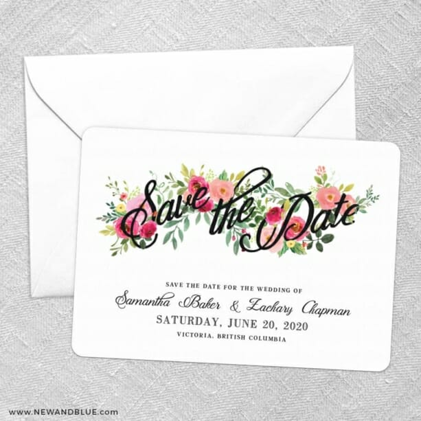 Bouquet De Fleurs Nb2 Save The Date Party Card