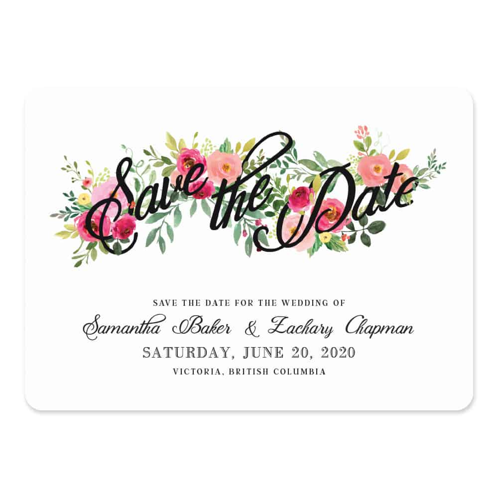 Bouquet De Fleurs Nb2 Save The Date
