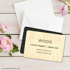 Custom Wood Landscape 8 Wedding Save The Date Magnets Wooden