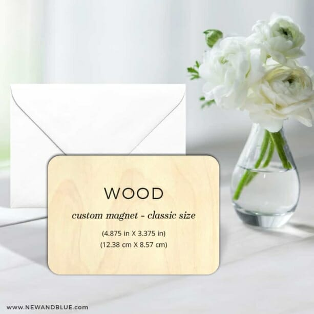 Custom Wood Landscape 7 Wedding Save The Date Magnets Printed On Wood