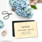 Custom Wood Landscape 6 Save The Date Magnet Wood Veneer