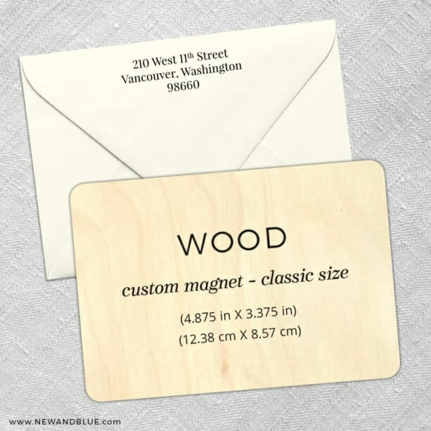 Custom Wood Landscape 4 Wood Save The Date With Optional Color Envelope