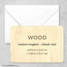 Custom Wood Landscape 2 Wood Magnet Classic Size