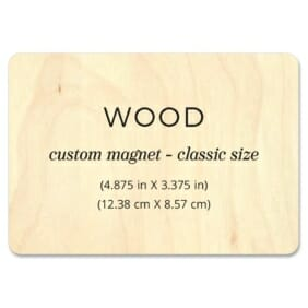Custom Wood Landscape 1 Wooden Save The Date Magnets