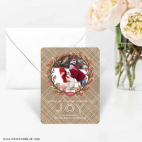 Holly Jolly Wreath 4 Wedding Save The Date Magnets