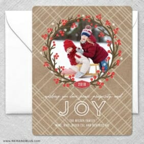 Holly Jolly Wreath2 Grande Size Save The Date Magnet