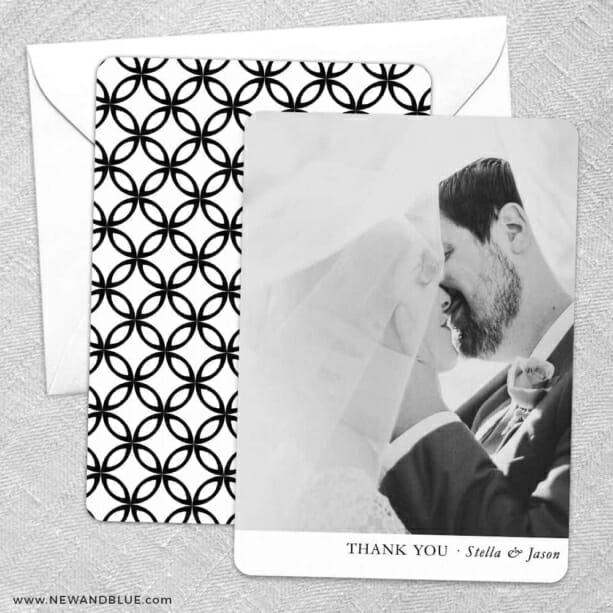 Classic Thank You Save The Date Wedding Card
