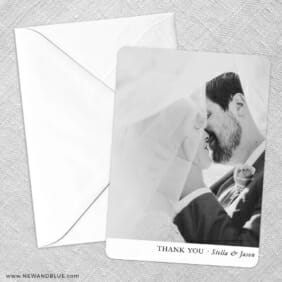 Classic Thank You Save The Date Party Card