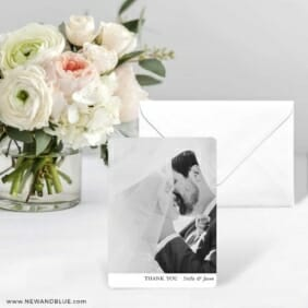 Classic Thank You Save The Date Card With Envelope