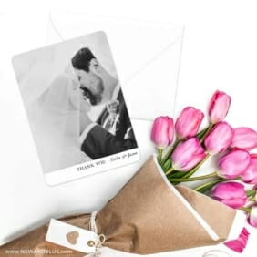 Classic Thank You Save The Date Cards With Envelope