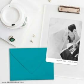 Classic Thank You Save The Date Cards And Optional Color Envelopes
