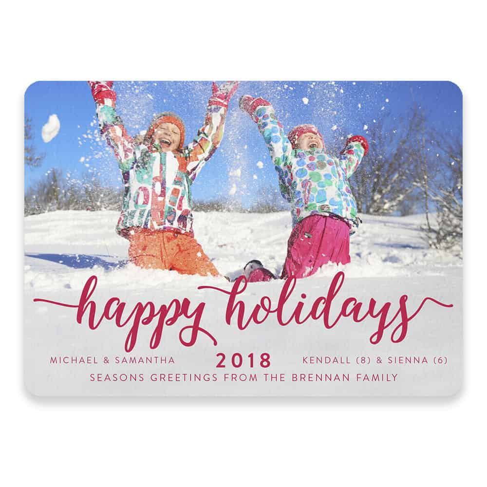 Handwriting Holiday Save The Date