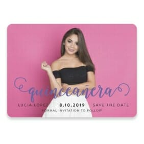 Handwriting Quinceanera Save The Date