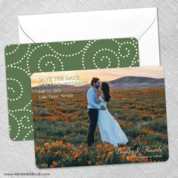 Countryside Save The Date Wedding Card