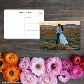 Countryside Save The Date Postcard With Back