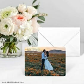 Countryside Save The Date Card With Envelope