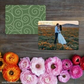 Countryside Save The Date Card With Back Printing