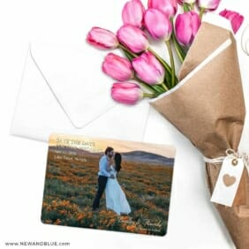 Countryside Save The Date Cards With Envelope