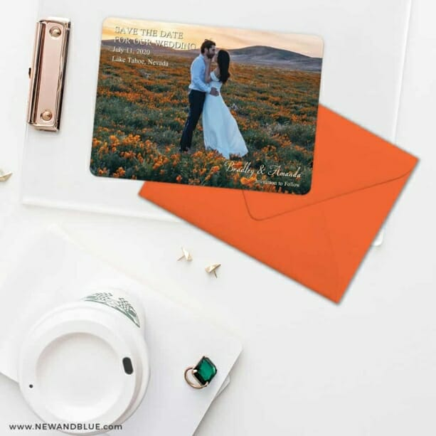 Countryside Save The Date Cards And Optional Color Envelopes
