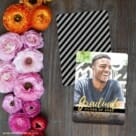 Modern Grad Save The Date Card With Back Printing