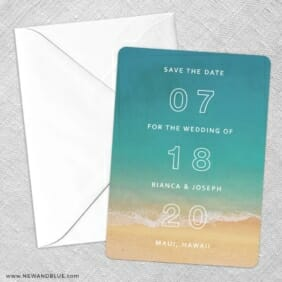 Classic Outline Save The Date Party Card