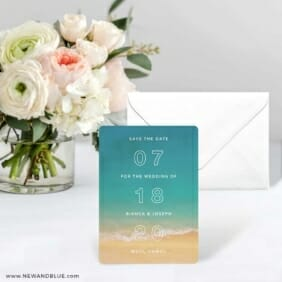 Classic Outline Save The Date Card With Envelope