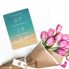 Classic Outline Save The Date Cards With Envelope