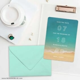 Classic Outline Save The Date Cards And Optional Color Envelopes